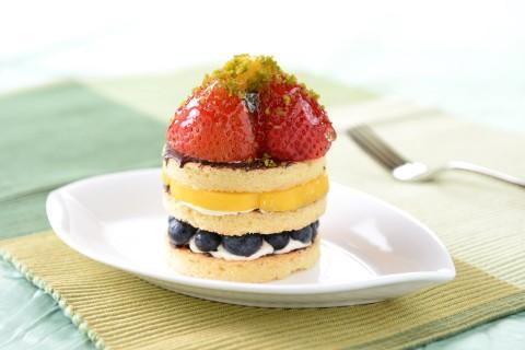 美味水果夹心蛋糕