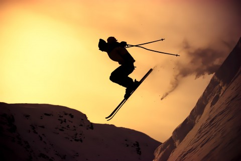 冬日滑雪运动