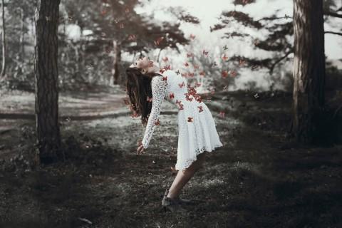 美女与蝴蝶