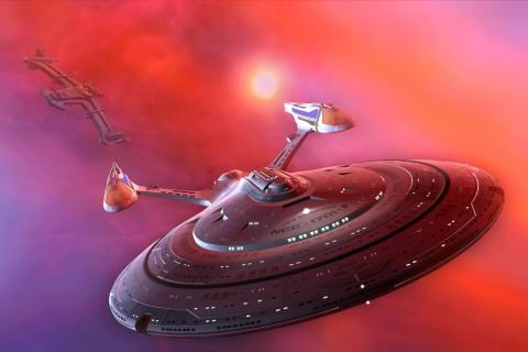 太空中的宇宙飞船