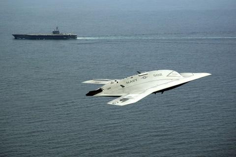 X-47B隐形无人机