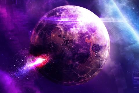 谜一样的紫色星球