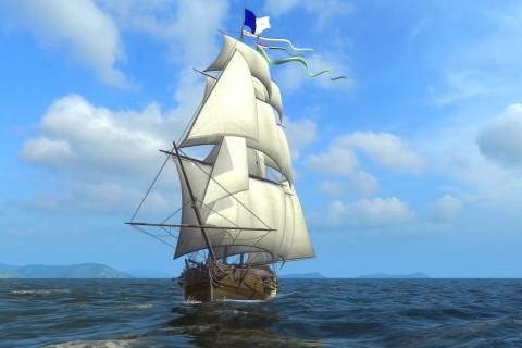 蓝天下的帆船