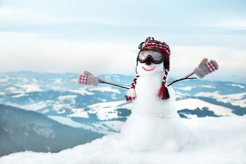 雪山上的雪人