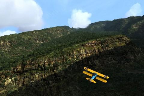 山谷里的滑翔机