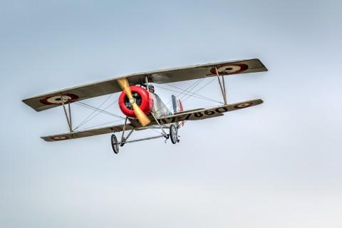 空中的滑翔机