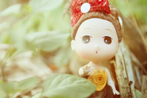 呆萌可爱的娃娃