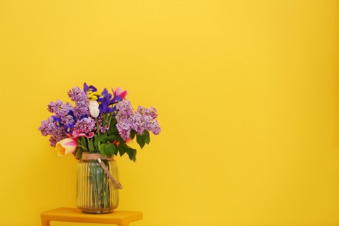 美丽温馨的插花