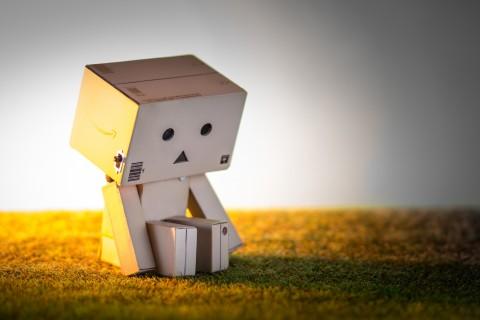 孤单的纸盒人