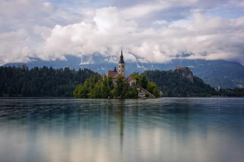 斯洛文尼亚布莱德湖美景