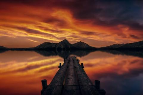 黄昏下的景色