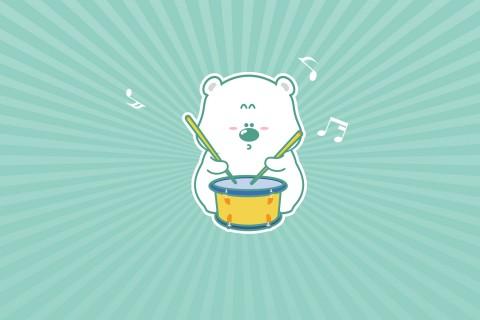 敲鼓的小囧熊