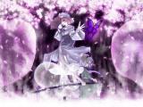 紫色樱花夜