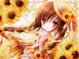 美丽的向日葵女生