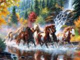 手绘奔跑的骏马