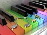 彩色钢琴键
