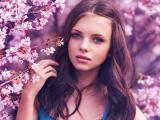 樱花丛中的少女