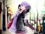 可爱的紫发女孩
