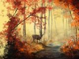 秋天风景水彩画
