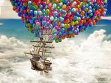 天空中的帆船