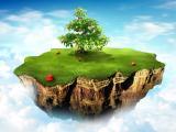 天空小岛上的苹果树