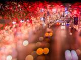 繁华城市的霓虹