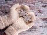 手里的雪花
