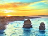 清晨的十二使徒岩风景