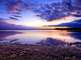 唯美的宁静湖泊