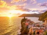 意大利五渔村落日