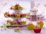 蝴蝶纸杯蛋糕