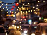 城市里的繁华霓虹