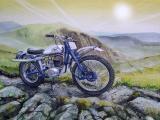 摩托车绘画