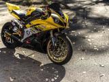 黄色雅马哈摩托车