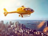 黄色直升机
