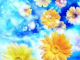梦幻背景花卉