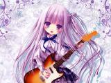 弹吉他的动漫女孩