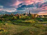 美丽富饶的村庄