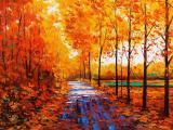 秋天景色水彩画