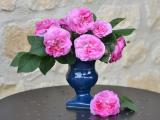 桌上的鲜艳插花