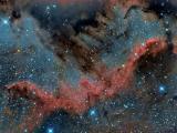璀璨的北美洲星云
