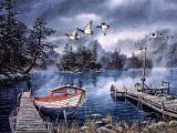 冬日湖边美景